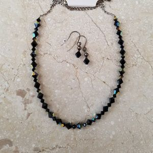 Jewelry - Crystal Necklace and Earrings Set